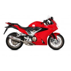 EXHAUST MIVV OVAL TITANIUM WITH CARBON BASE FOR HONDA VFR 800 F 2014/2020, APPROVED