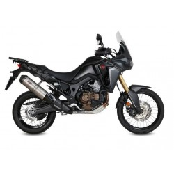EXHAUST MIVV OVAL TITANIUM WITH CARBON BASE FOR HONDA AFRICA TWIN 1000 2016/2019, APPROVED