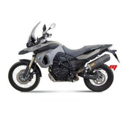 EXHAUST MIVV OVAL TITANIUM WITH CARBON BASE FOR BMW F 650 GS 2008/2012, APPROVED