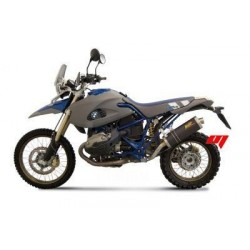 EXHAUST MIVV OVAL TITANIUM FOR BMW HP2 ENDURO, APPROVED