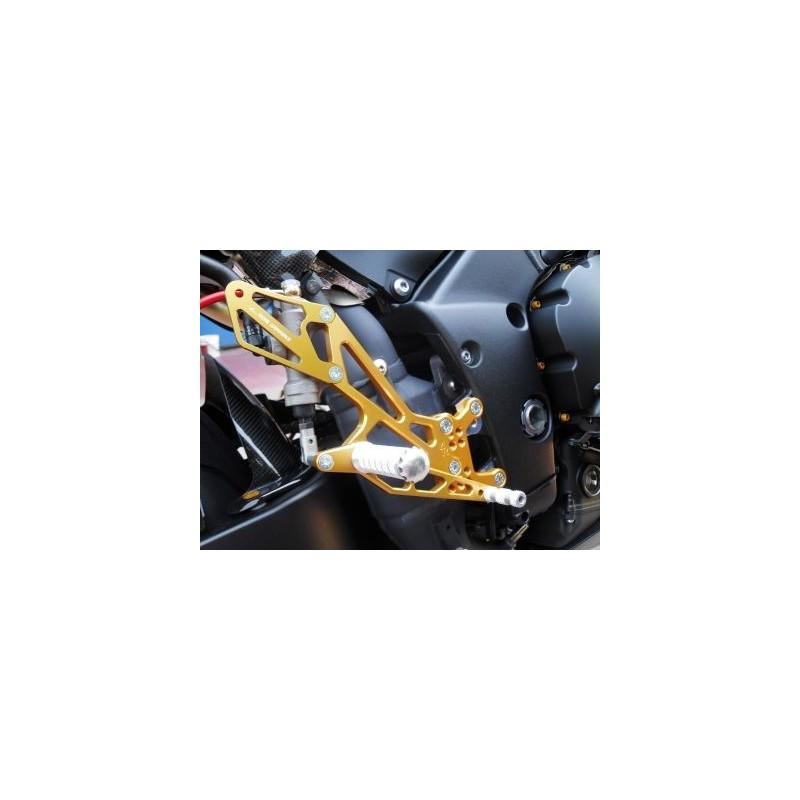 PEDANE ARRETRATE REGOLABILI 4 RACING PER YAMAHA R1 2009/2014 (comando cambio STANDARD/ROVESCIATO)